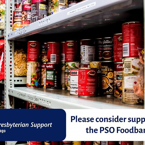 Please consider supporting the PSO Foodbank